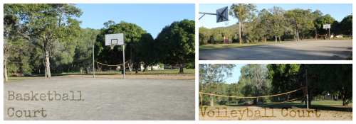Basketball volleyball court