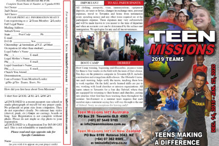 2019 Mission Trips Brochure